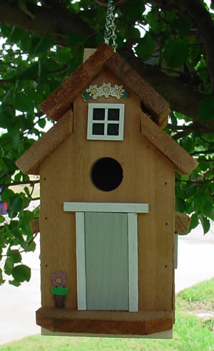 Bird houses by mark cedar bird house dove gray for Dove bird house