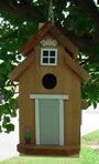 Cedar Bird house - Dove Gray