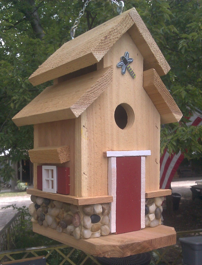 Bird houses by mark chesapeake style birdhouse with rock for River rock house plans