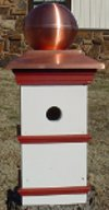 Colonial Style Bird House with Faux Copper Dome Roof
