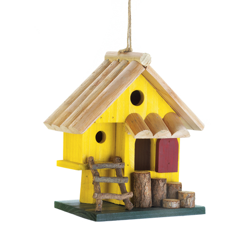 Cozy Yellow Bird House