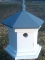 Hampton Bird House - Colonial Blue