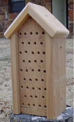Mason Bee House - Peaked Roof