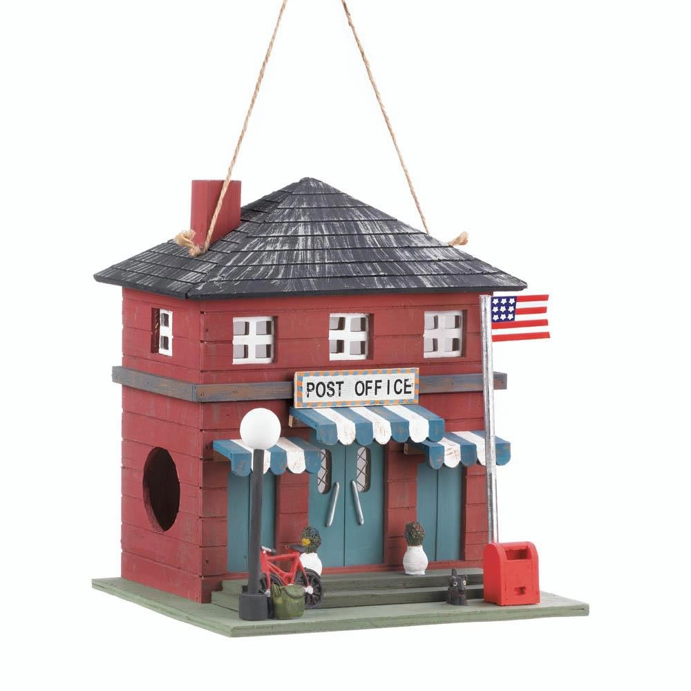 Vintage Post Office Birdhouse