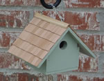 Wren bird house with shingles